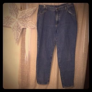 VINTAGE LEE High Waisted Rise Mom Straight Jeans